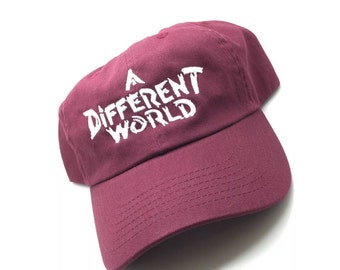A Different World TV Show Maroon Dad Cap Hat Exclusive Retro Rare Vtg