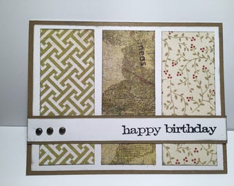 Happy Birthday//Thinking of You//Congratulations//Thank You//Handmade Cards