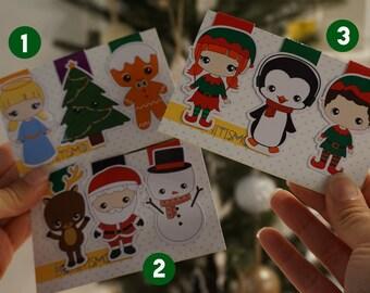 Magnetic bookmarks - Christmas bookmarks, Santa Claus, Elfs, Ginger man, Snowman, Angel, Christmas tree