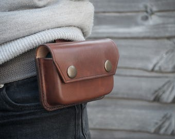 Leather Belt Pouch - Leather Possibles Pouch - Altoids Tin Pouch - Bushcraft - Outdoors