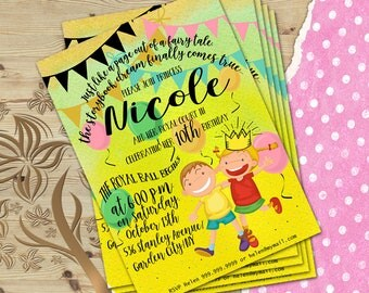 Printable Kids Party Invite, Printable Kids Invite, Printable Party Invite, Kids Birthday Invitation, Digital Party Invitation, Party Card