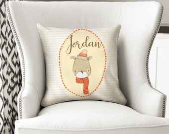 Dog Personalized Pillow, Personalized Boy Pillow, Dog Pillow Cover