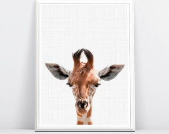 Giraffe Print, Safari Nursery, Giraffe Animal Print, Boys Room Wall Art, Kids Large Printable Poster, Safari Baby Shower, African Animal Art