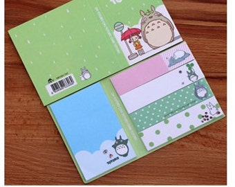 Totoro Sticky Notes / Kawaii Sticky Markers / Post it Notes