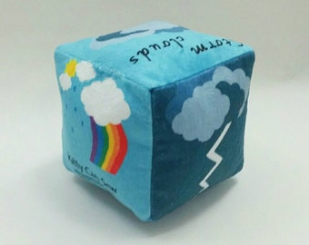 Weather cube, soft block, toy cube, soft toy, educational toy, unique toy, playful learning, plushie, softy, baby gift, babyshower, new baby