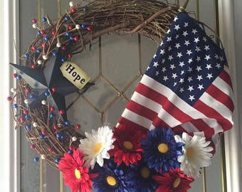 Patriotic Wreath to celebrate all year