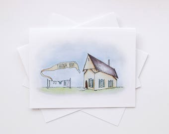 the washline - set of 5 printed cards