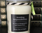 Funny Quote Candles / Sassy Soy 16oz Mason Jar Scented Candles / Assorted Scents and Sayings! / Soy Mason Candles