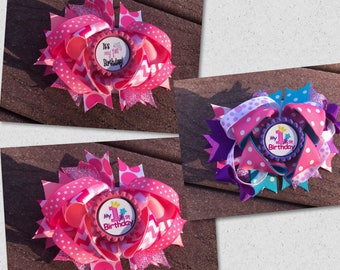 First birthday headband first birthday hair bow pink first birthday bow princess first birthday first birthday headband