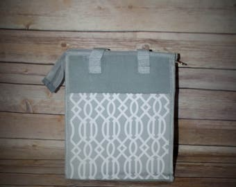 Monogrammed Trellis Lunch Tote, Lunch Totes, Lunch Box, Lunch Bag, lunch tote, Trellis lunch tote, lunch tote insulated