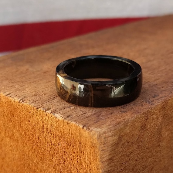 African Blackwood Ring - Wooden Ring Wood Wedding Ring Engagement Ring Wood Anniversary Couples Ring Promise Ring Blackwood Ring