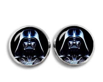 Darth Vader Stud Earrings Star Wars stud earrings Sith Lord Fandom Jewelry Cosplay Fangirl Fanboy