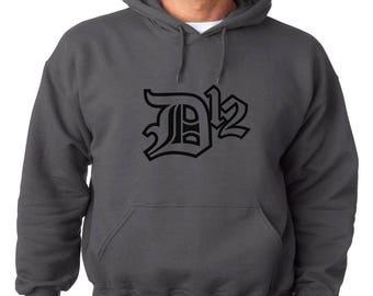 D-12 Logo Hoodie Classic Vintage Style Hip Hop Fleece Sweatshirt Eminem Slim Shady Dirty Dozen Detroit Hip Hop Rap New Marshall Mathers D 12