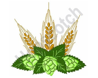 Hops & Barley - Machine Embroidery Design