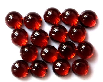 10pcs lot 4mm Red Garnet Cabochon Round Loose Gemstone 100% natural red garnet round cabs gemstone red garnet cabochon round gemstone