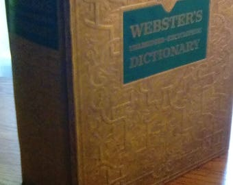 Webster's unabridged encyclopedic dictionary Vintage Webster's Dictionary 1957  Webster's Encyclopedic Dictionary of the English Language