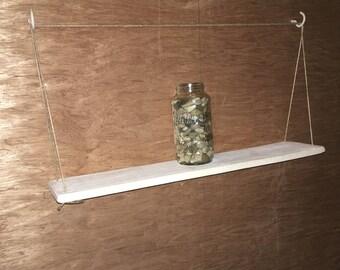 Pallet Plank hanging shelves