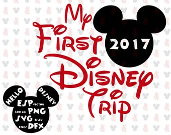 My first Disney trip Mickey Clipart Disney - Cut files - Mouse Die Cuts - Svg Dxf Eps Pdf Png