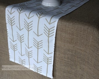 Gold Arrow Decor Table Runner Table Centerpiece Dining Room Table Kitchen Home Decor Metallic Gold Linens