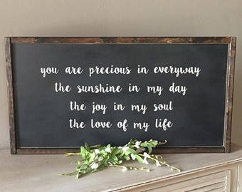 You are Precious WORD SIGN