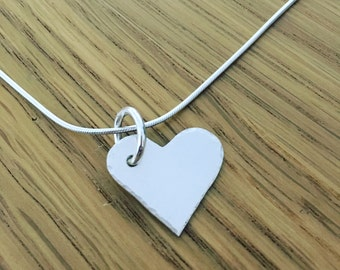 Handmade Sterling Silver Heart With Semi Precious Stone Bead