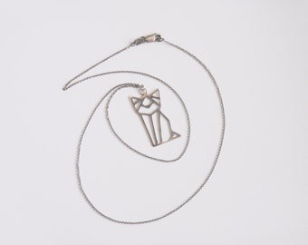 Cat Geometric Pendant
