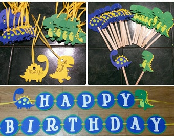 Dinosaur Birthday Party Pack 1st Birthday Party Dino-Mite Party
