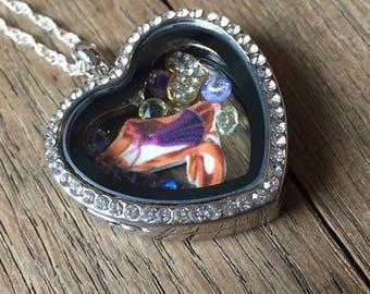 Tangled jewelry, tangled necklace, rapunzel jewelry, rapunzel necklace, disney jewelry, disney necklace, floating locket, rapunzel locket