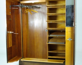 Antique Armoire | Art Deco Mahogany  | Compactom Armoire | Compactom Wardrobe | Fitted Closet | B491