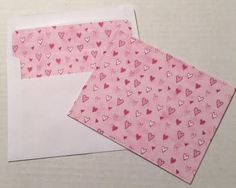 4 Handcrafted Stationery Note Cards with Envelopes NC017