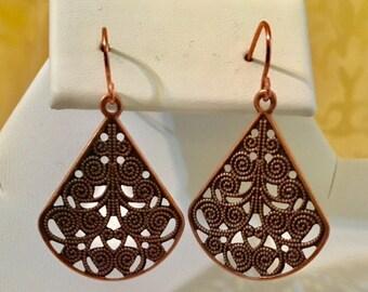 Copper Plated Steel Earrings