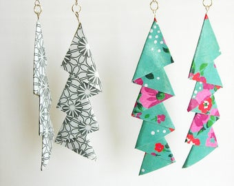 2 pair of earrings by paper. Lightweight, assorted colors