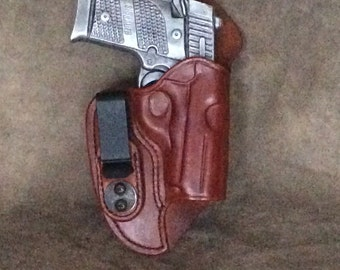 Sig P938 IWB Leather Holster w/Sweat Guard