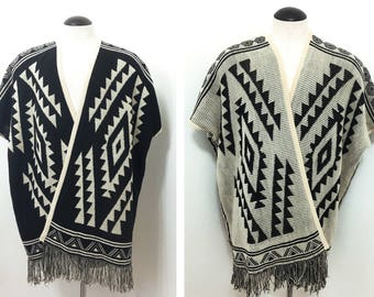 Reversible Lightweight Mexican Poncho