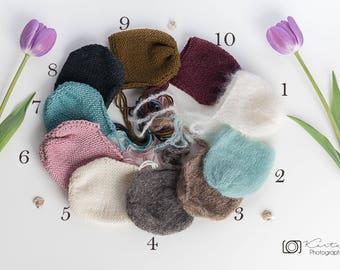 Newborn mohair bonnet,baby bonnet,newborn bonnet,wool bonnet,props,alpaca bonnet,baby bonnet,blue,pearl,denim,newborn bonnet,newborn props