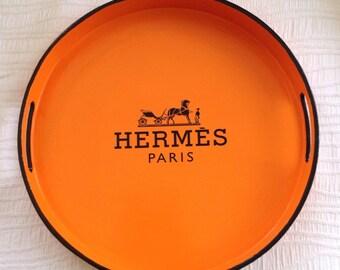 Round Hermes Paris Tray