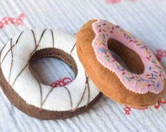 Felt Donut Pattern, Felt Food Pattern, Play Food Pattern, PDF File