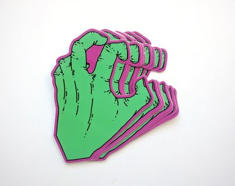 Zombie Glam Hand Sticker