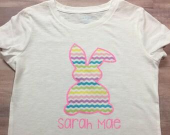 Personalized Easter Shirt- Vinyl Easter Shirt- Personalized Easter Bunny Shirt