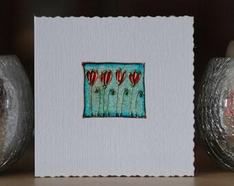 Four little flowers- Handmade card