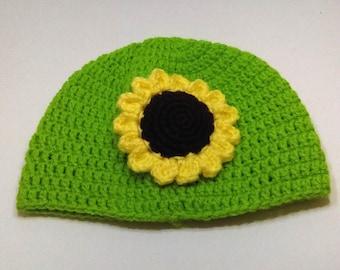 Sunflower Hat, 0 to 6 Months