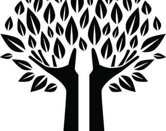 Hands Holding Family Tree Of Life Love .SVG .EPS .PNG Instant Digital Clipart Vector Cricut Cut Cutting Download Printable Scrapbook File