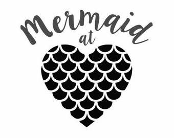 Mermaid at Heart Vinyl Decal