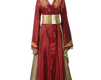 Queen Cersei Red Dress Cosplay Costumes