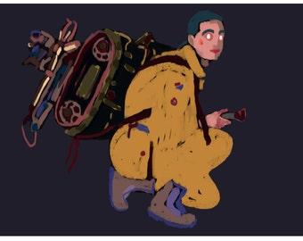 Yellow Boy - painting, digital