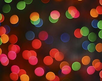 """CANVAS PRINT """"Flower Bokeh"""" by Vondeko, High Quality Giclee Canvas Print of Colorful Lights Resembling Flowers Out of Focus, Interior Design"""