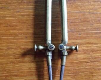 Vintage brass hinged dividers