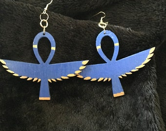 BLUE WINGED ANKH