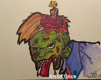 Original Greeting Cards A7 5x7 -Zombie Edition