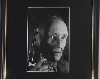 Framed and Mounted Postcard William S Burroughs 1990 by Gottfried Helnwein - A4 - 297mm x 210mm